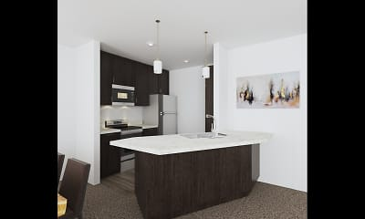 Kitchen, Knolls Apartments, 0
