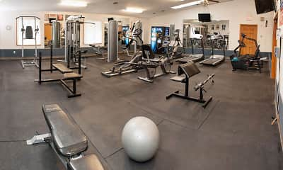 Fitness Weight Room, Valley Stream Apartments, 1