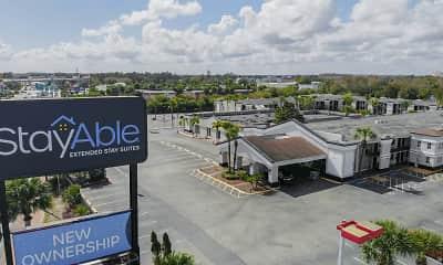 Community Signage, Stayable Suites Orlando, 2