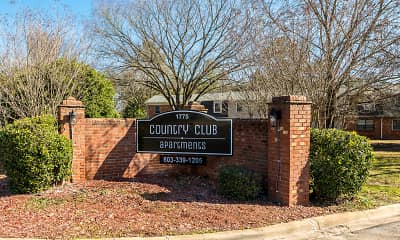 Community Signage, Country Club Apartments, 0