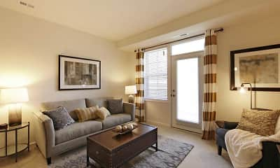 Living Room, Oakmont Village Apartments, 1