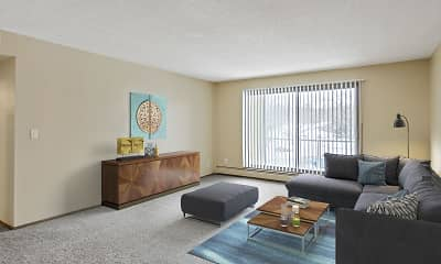 Living Room, Willoway Apartments, 1
