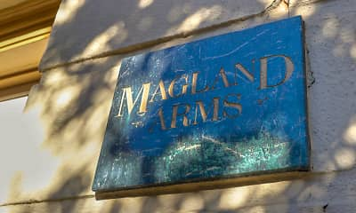 Community Signage, Magland Arms Apartments, 2