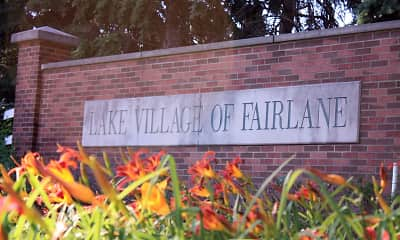 Community Signage, Lake Village Of Fairlane, 1