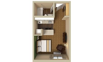 Furnished Studio - Greenville - Airport, 2