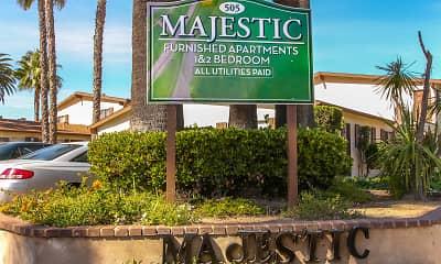 Community Signage, Majestic Apartments, 2