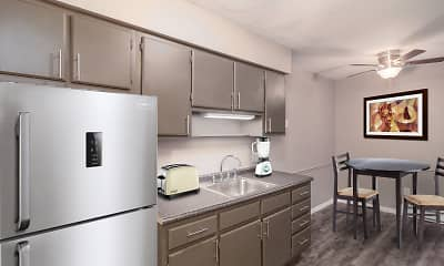 Kitchen, Westridge Apartments And Townhomes, 1