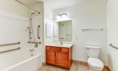 Bathroom, Springside School Apartments, 2