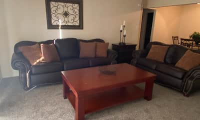 Living Room, Lake Vista Apartments, 2