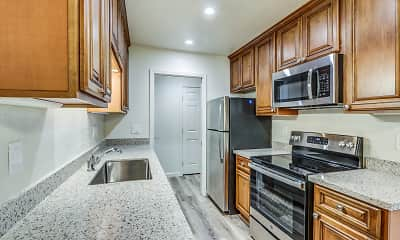 Kitchen, Latham Square Apartments, 0