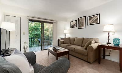 Living Room, Country Club Apartments, 2