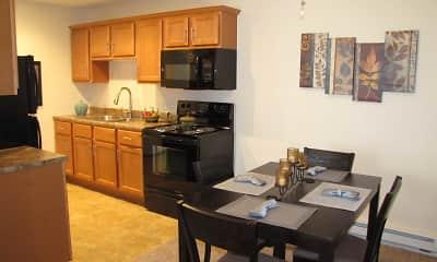Kitchen, Courtyard Apartments, 1