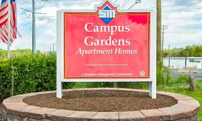Community Signage, Campus Gardens, 2