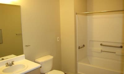 Bathroom, Ridgecrest Apartments 55+, 2