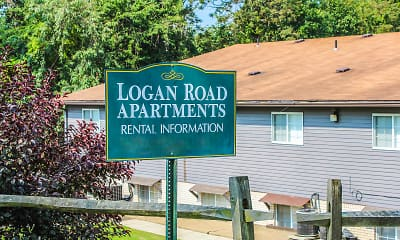Community Signage, Logan Road Apartments, 0