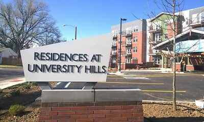Community Signage, Residences at University, 1