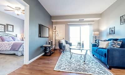 Living Room, Gateway Green Apartments, 1