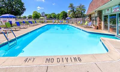 Pool, Castle Pointe Apartments, 1