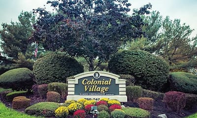 Community Signage, Colonial Village, 0