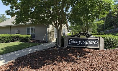Community Signage, Colony Square Apartments, 0