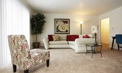 Living Room, Hampton Park Apartments - Sheffield Village Apartments, 0