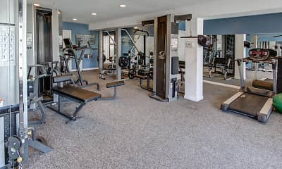 Fitness Weight Room, The Reserve at Glenville, 1