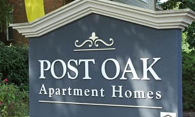 Community Signage, Post Oak, 2