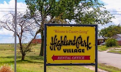 Community Signage, Highland Park Village, 2