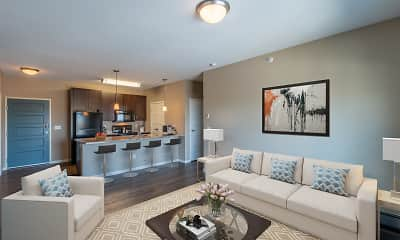 Living Room, Latitude Apartments, 1
