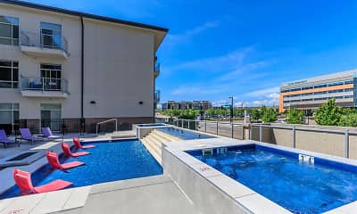 Pool, Lofts at Lincoln Station Apartments, 1