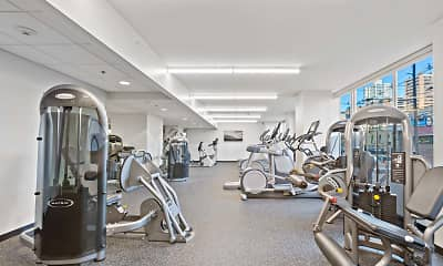 Fitness Weight Room, 225 Grand Apartments, 2
