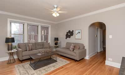 Living Room, 1900 W. Pratt, 1