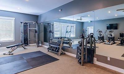 Fitness Weight Room, The Station on 17th, 2