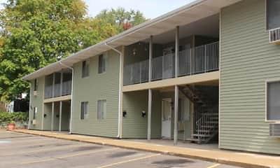 Building, West Jefferson Apartments, 1