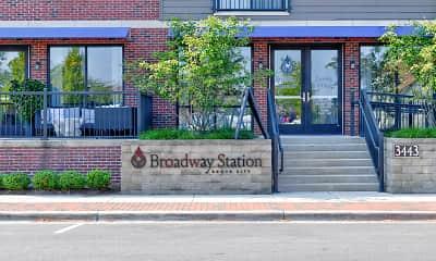Community Signage, Broadway Station, 2