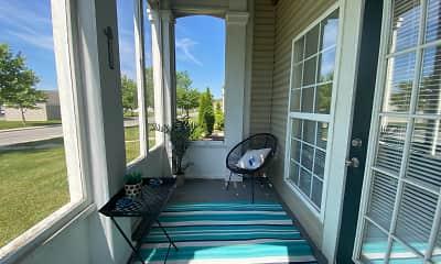 Patio / Deck, Pebble Brook Village Apartments, 2