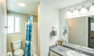 Bathroom, Holladay on Ninth Apartments, 2