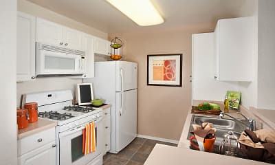 Kitchen, Evergreen Apartments & Townhomes, 0