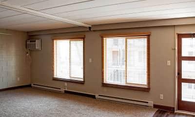 Living Room, Fiddlers Flats & Sherwood Apartments, 1
