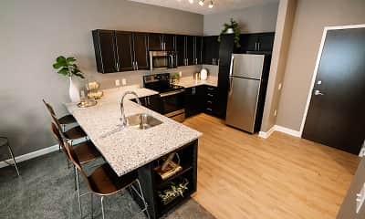 Kitchen, The Flats at Leighton District, 1