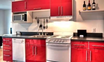 Kitchen, Bluestone Downtown Apartments & Lofts, 1