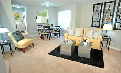 Living Room, Westbury Village Townhouses, 0