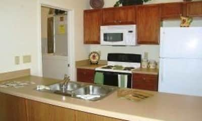 Kitchen, Harris Branch Apartments, 1