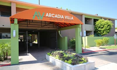 Community Signage, Arcadia Villa Apartments, 1