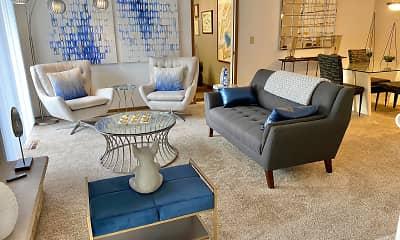 Living Room, Auburn Rental Townhomes, 1