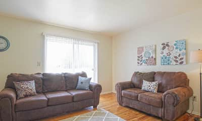 Living Room, Country Way Apartments, 1
