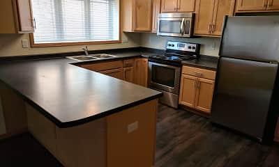 Kitchen, West Lake II Apartments, 1