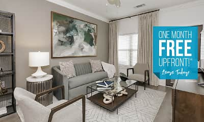 Living Room, Brea Luxury Apartments, 0