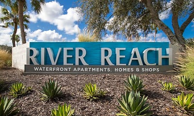 Community Signage, River Reach Apartments, 2