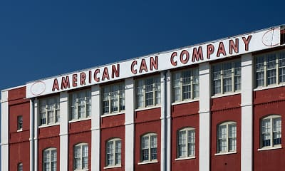 Community Signage, American Can Apartments, 2